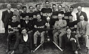 Photo of the Churchill Softball Team - 1930 Simcoe County Champions